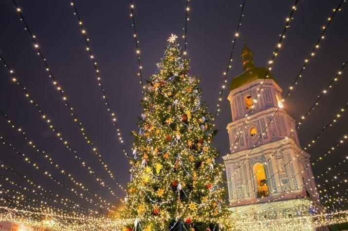 Новогодняя елка в Киеве — одна из самых красивых в Европе