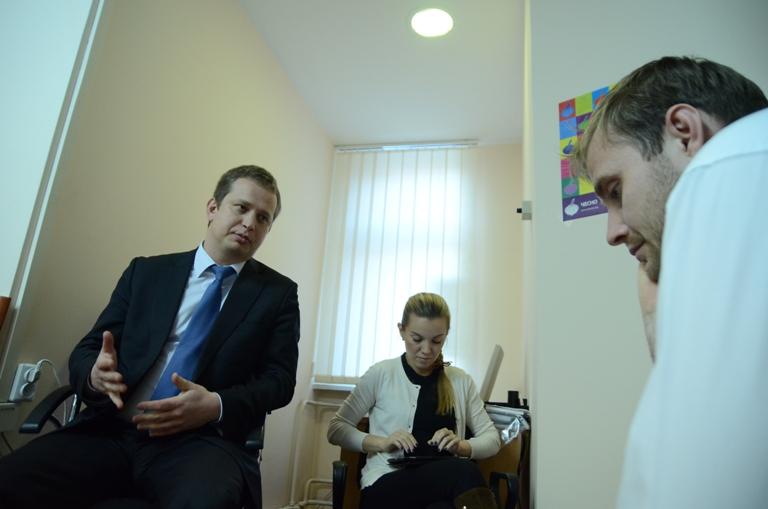 Евгений Воропаев во время онлайн-конференции
