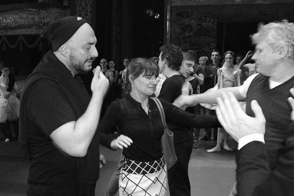 Кирилл Серебренников, пресс-секретарь Большого театра Катерина Новикова, Юрий Посохов
