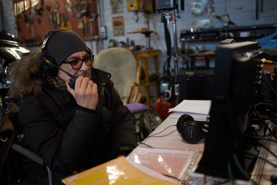 Анатолий Матешко на съемках Тройной защиты. Фото: Виталий Головин