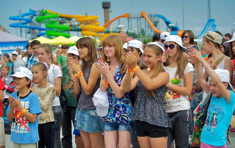 Во время благотворительной акции в аквапарке в Кириловке
