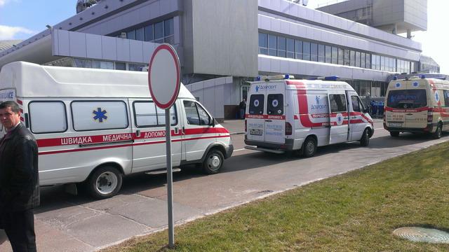 Скорые привезли раненых на Майдане в Борисполь