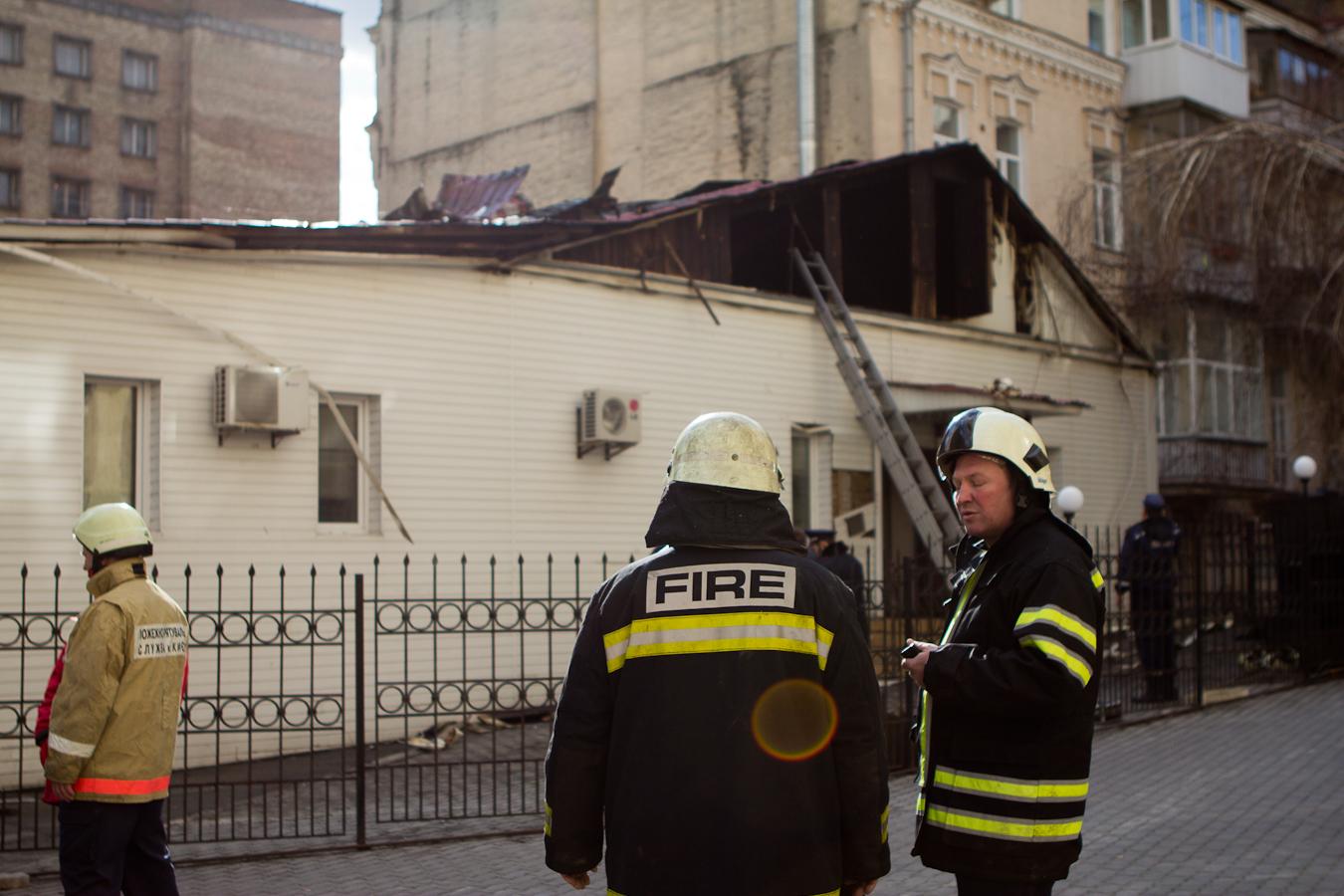 Пожарники справились с возгоранием на Саксаганского Фото: Татьяна Довгань