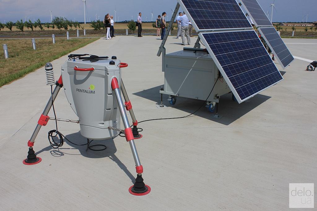 Ботиевская ВЭС, лидар для дистанционного измерения скорости ветра, Запорожская область