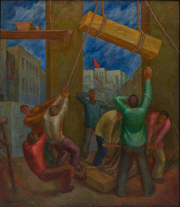 """Сергей Ержиковский. """"Строят"""" (1930)"""