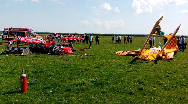 ВРумынии два легкомоторных самолета столкнулись ввоздухе