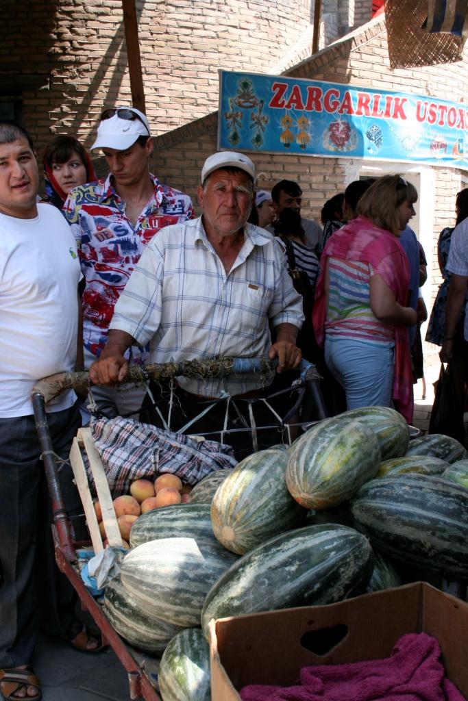 Знаменитые узбекские дыни