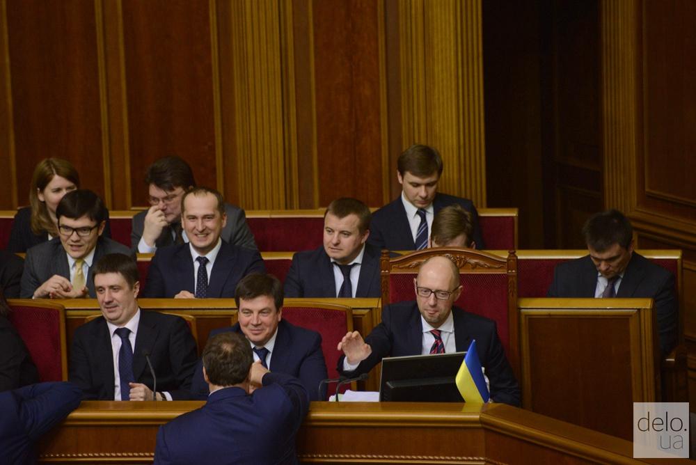 Заседание Верховной рады 16 февраля. Яценюк отчитался за 2015 год. Фото: В.Головин