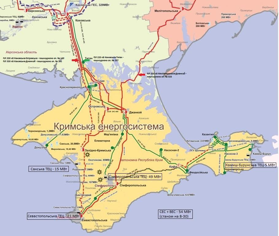 """Карта предоставлена пресс-службой НЭК """"Укрэнерго"""""""