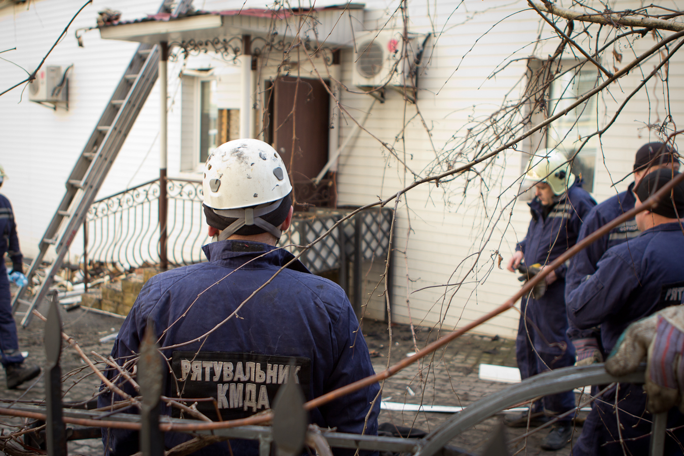 Последствия пожара на Саксаганского Фото: Татьяна Довгань