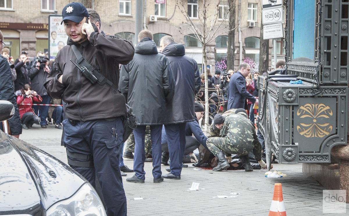 Зозуля также прибыл на место убийства. Фото: Татьяна Довгань