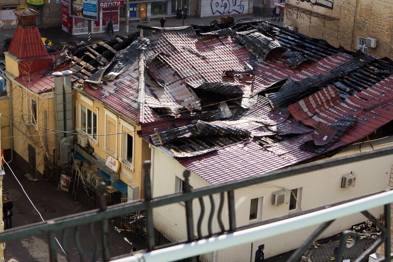 Последствия пожара Фото: Татьяна Довгань
