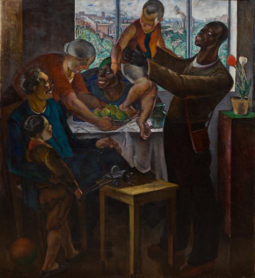 """Абрам Черкасский. """"Приезд иностранных рабочих"""" (1932 г.)"""