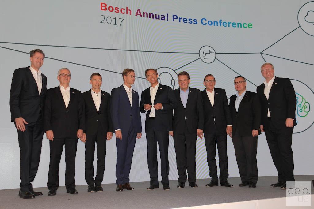 Правление Bosch перед годовой пресс-конференцией в Реннингене / фото Артем Ильин Delo.UA