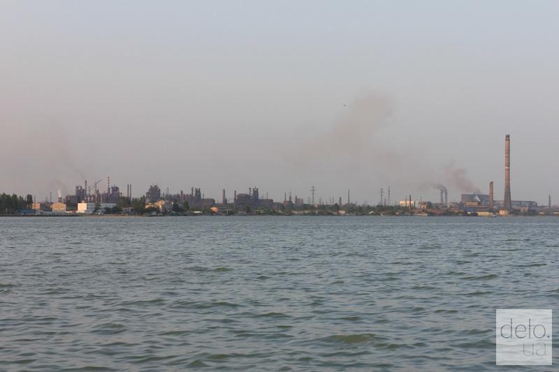 Репортаж из Мариуполя. Панорама МК Азовсталь с моря