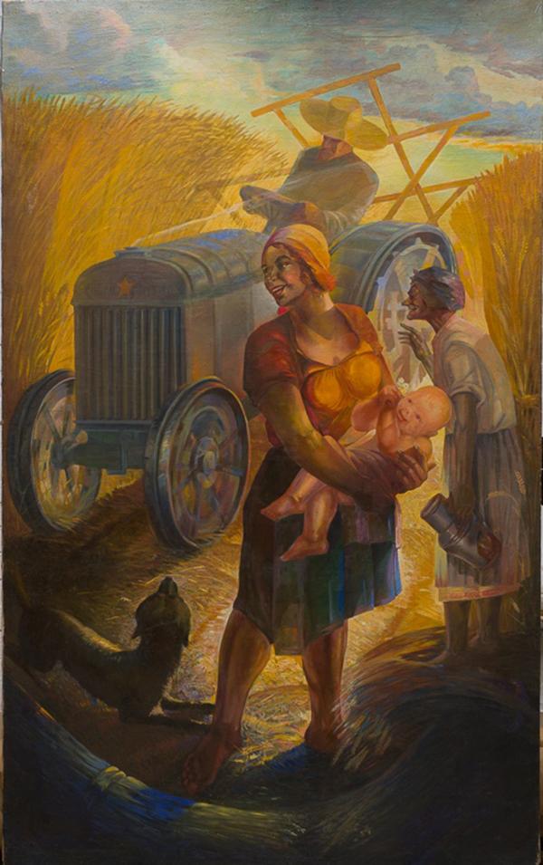 """Петр Кодьев. """"В колхозной степи"""" (1932)"""