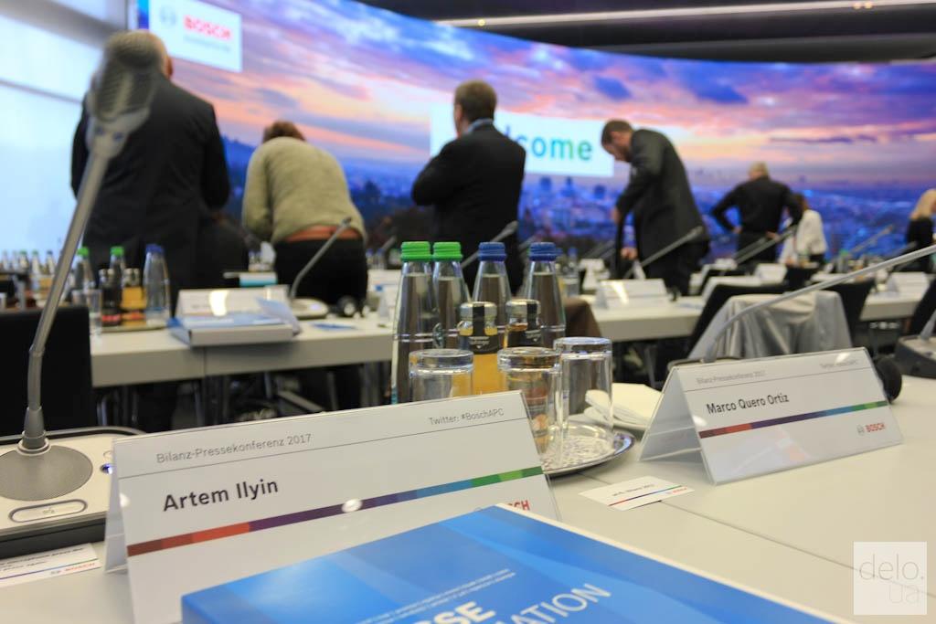 Итоговая годовая пресс-конференция Bosch в Реннингене, Германия / фото Артем Ильин Delo.UA