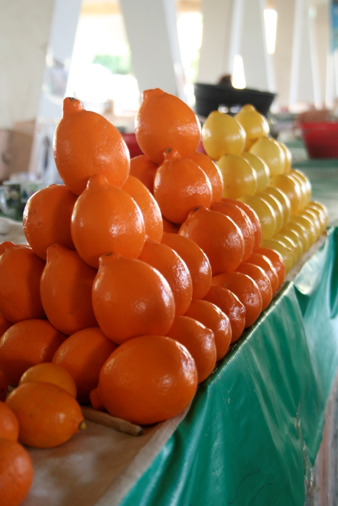 В Узбекистане лимоны оранжевые