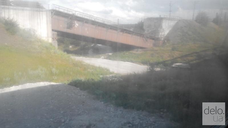 Репортаж из Мариуполя. Взорванный мост
