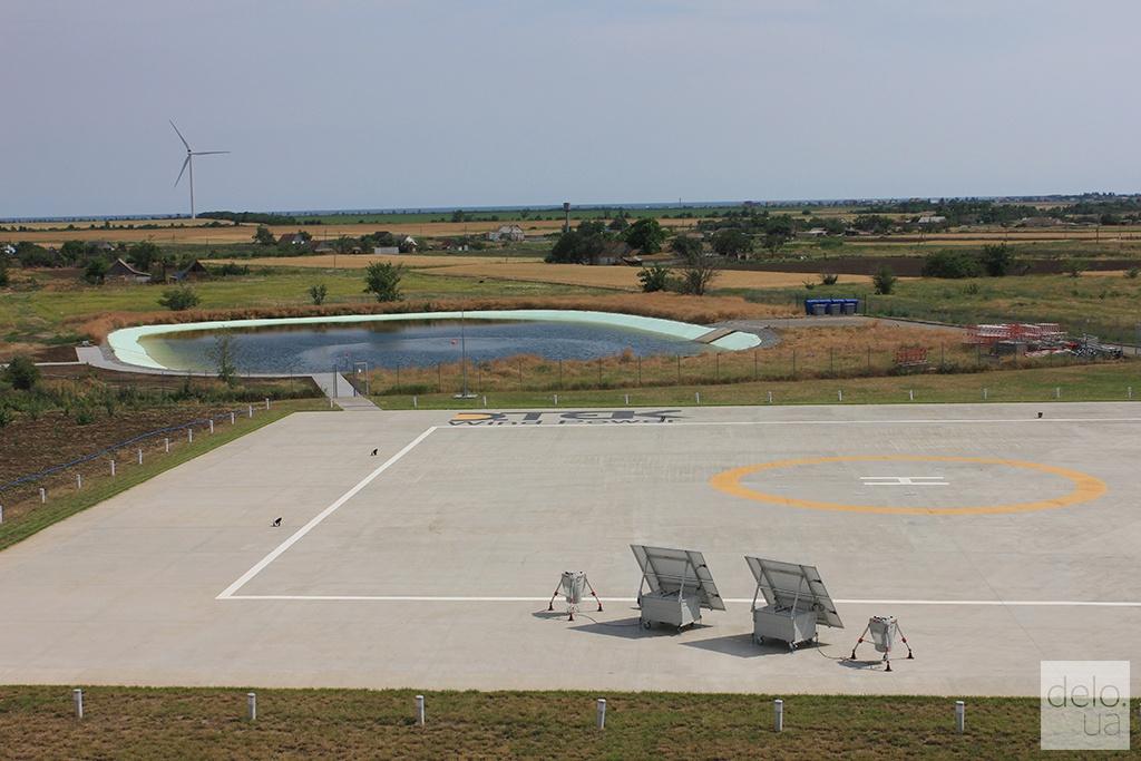 Ботиевская ВЭС, вертолетная площадка, Запорожская область