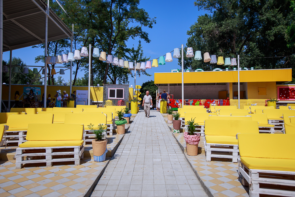 Хаб для пожилых в киевском Гидропарке - частная благотворительная инициатива Гарика Корогодского. Фото: Татьяна Довгань