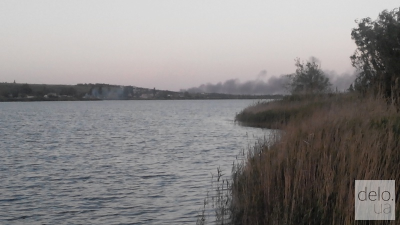Последствия обстрела в районе Широкино