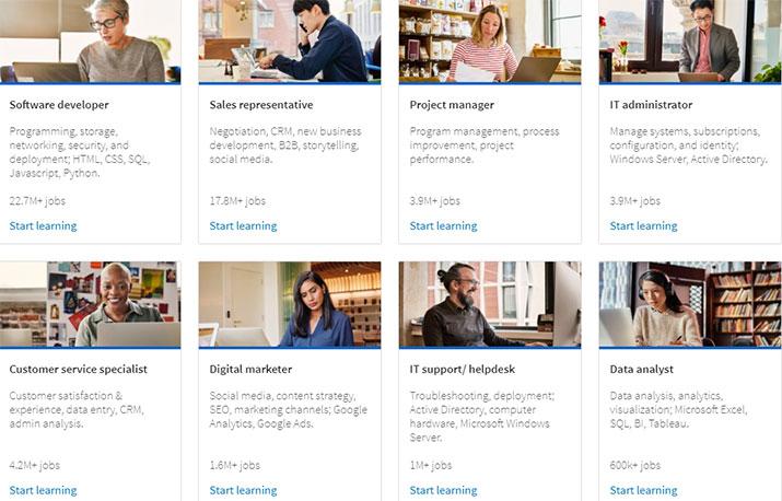 Microsoft и LinkedIn запустили платформу бесплатных курсов 10 востребованных профессий