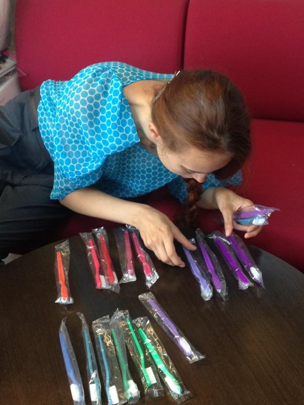Радуга от Харьковской фабрики зубной щетки