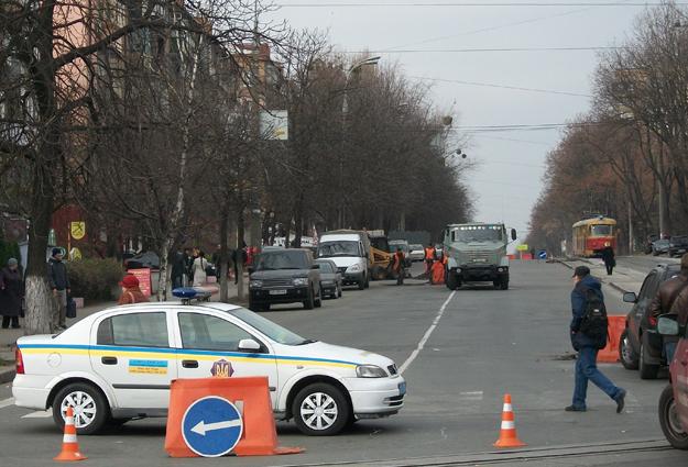 Улица Дегтяревская перекрыта